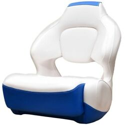 Robalo Boat Helm Seat 31.00722   R207 / R227 / R247 Bolster White Blue