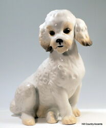 Lladro - Nao Sweet Poodle 1655g - Seated Large White Dog - No Defects - New
