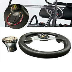 12.5and039and039 New Steering Wheel W/ Adapter Golf Cart Parts For Club Car Precedent/ds
