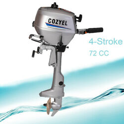 4-stroke 4hp Outboard Motor Oil Marine Outboard Engine Water Cooling 72cc