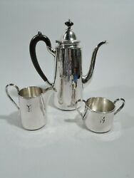 Kalo Coffee Set - 13 - Arts And Crafts Craftsman - American Sterling Silver