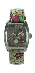 Ladies Disney Donald Duck Classic Collectible Watch Comic Leather Band Mc0371