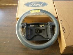 Nos Oem Ford 1992 Mustang Blue Leather Wrapped Steering Wheel W/ Cruise Control