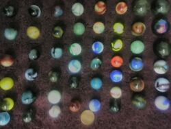 Outstanding Old Vintage Marbles Antique Lot49 Attic Find