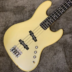 Moon/jj-4 Pearl White Secondhand Musical Instruments/moon/jazzbeth/electric Bass
