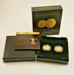 American Eagle 2021 One-tenth Ounce Gold Two-coin Set Designer Edition 3456