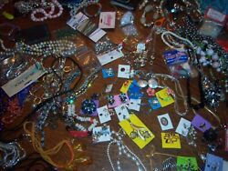 Vintage Estate Sale Treasures Retro / Bling / Jewelry Beads Over 9 1/2 Lbs