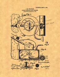 Carpet Sweeper And Cleaner Patent Print Ancient Gold