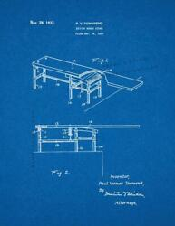 Diving Board Stand Patent Print Blueprint
