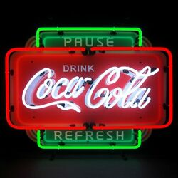 Coca Cola Pause Refresh Neon Sign 5ccprf W/ Free Shipping