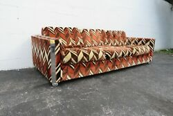 Hollywood Regency Mid Century Modern Large Sofa Couch By Rowe Furniture 2301