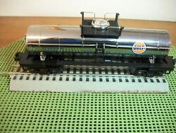 Mth Railking O/o-27 Chrome Plated Gulf Tank Car From Rtr Set 30-4244