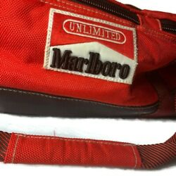 Marlboro Unlimited Gear Large Red Divided Cooler Bag Duffel 20 Inch Preowned