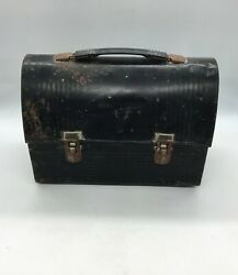Antique Box Metal, Bowl, Canteen, Marking V, Brand Thermos 10 3/16x7 1/2in