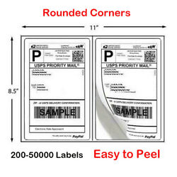 8.5x5.5 Shipping Labels 2 Per Sheet Self-adhesive For Laser And Inkjet Printers