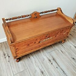 Antique Early 1900and039s Tennessee Red Cedar Chest By Ed Roos Co. Of Forest Park Ln