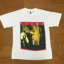 Sting 80and039s-90and039s Vintage Tour T-shirt Made In Usa Gem List No.mv728