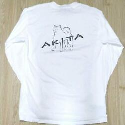 90s Dog Tee Akita L/s Vintage Made In Usa Notation List No.mv976