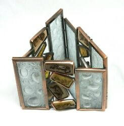 Partylite Water's Edge Votive Mosaic Triangle Candle Holder With Mirror Base 132