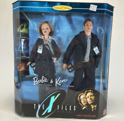 1998 The X-files Barbie And Ken Doll Set Mulder And Scully Collector Edition