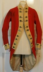New Army Red Coat American War Of Independence 18th Century Clothing Jacket