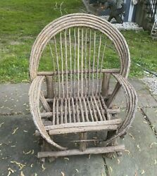 Vintage Bentwood Old Hickory Rustic Adirondack Hunting Camp Armchair