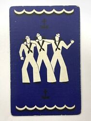1a One Single Swap Playing Card Artistic Deco Nouveau Affectionate Gay Sailors