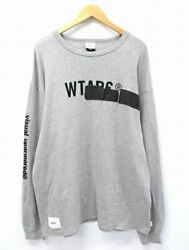 Secondhand Wtaps 2019aw Side Effect Design Ls 01 Long T-shirt 02 Gray Mens