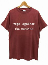 90s Rage Against The Machine S/s Tee Burgundy Short-sleeved T-shirt Band