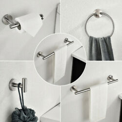 6 Piece Stainless Steel Towel Rack Set Wall Mount Home Decoration For Bathroom