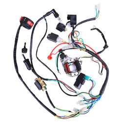 Wiring Harness Wire Loom Cdi Ignition Kit For 50 70 90cc 110cc Atv Electric Quad