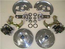 1964 - 1972 Chevy Gm A F X Body Disc Brake Conversion Kit Stock Spindles Slotted