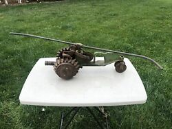 Vintage National B3 Cast Iron Lawn Sprinkling Sprinkler Tractor W/brass Arms