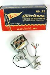 Vintage 1950and039s Kando Hurricane No. 22 Toy Outboard Boat Motor Mib Rare Find