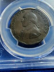 1791 WASHINGTON CENT PCGS Vf DETAILS SMALL EAGLE GREAT COLONIAL COIN ☆☆☆☆