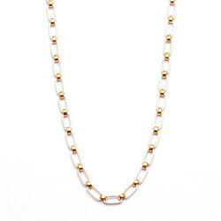 20 Inch And 4.8 Mm Long And Short Link 950 Platinum Two Tone Chain 18k Gold For Him