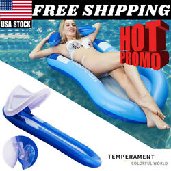 Inflatable Foldable Floating Bed Float Beach Swimming Pool Raft Water Toy Sale