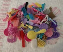 C, Lot Of Barbie Brushes, Combs And Hangers, Guc