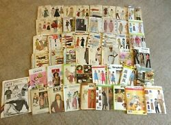Lot Of 48 Vintage And Modern Sewing Patterns Mostly Women's Uncut Ff