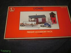 Lionel 6-11975 Freight Accessory Pack Tractor And Trailer, Buildings And More