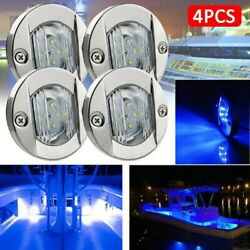 2835 Led Stern Lights Round 3inch 4pcs 6-smd Stair Blue Step Boat Trailers