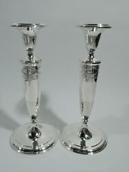 Winthrop Candlesticks - 20132a - Antique - American Sterling Silver