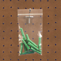 Resealable Poly Bag With Hang Hole, 12 X 15 Inch, 10000 Pack, 2 Mil Clear
