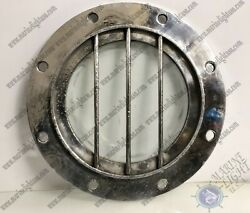 Ship Salvaged Antique Silver Aluminum Porthole Window With Cage Lot Of 5