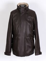 5450 - Loro Piana Deer Leather / Cashmere Coat Jacket - Brown - Large
