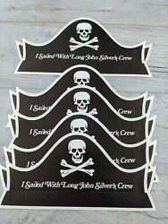 Vintage Long John Silvers Paper Pirate Hat I Sailed Lot Of 5