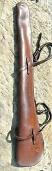 1926 Antique Textan Leather Rifle Scabbard For Winchester 1894 Military Ranger