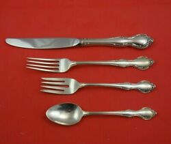 Pirouette By Alvin Sterling Silver Regular Size Place Settings 4pc Flatware
