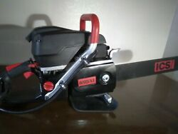 Ics 695xl Gc 16 Concrete And Utility Pipe Gas Chainsaw + Guidebar + 2 New Chains