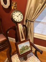 E. Howard Antique Presentation Weight Banjo Clock Signed Movement And Dial. Mint